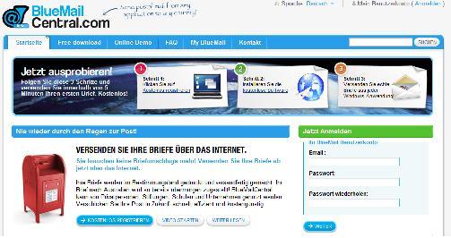 Bluemailcentral Günstige Möglichkeit Briefe Ins Ausland Zu