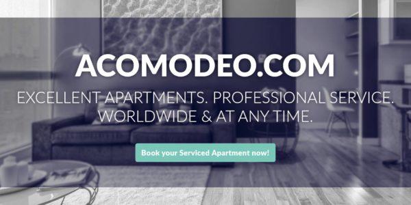 """Acomodeo bringt Transparenz in den Boom-Markt """"Serviced Appartments"""""""