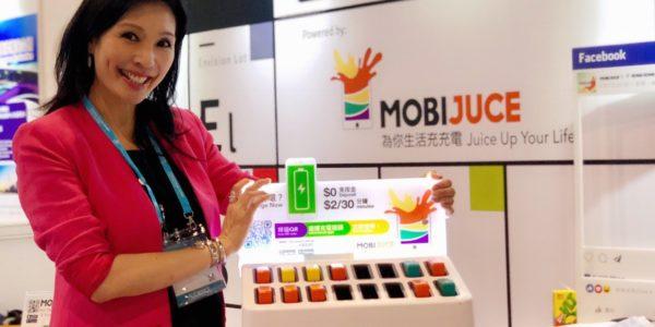 Hongkonger Start-up Mobijuce lockt mit einer Powerbank-Verleihstation die Kunden in die Geschäfte