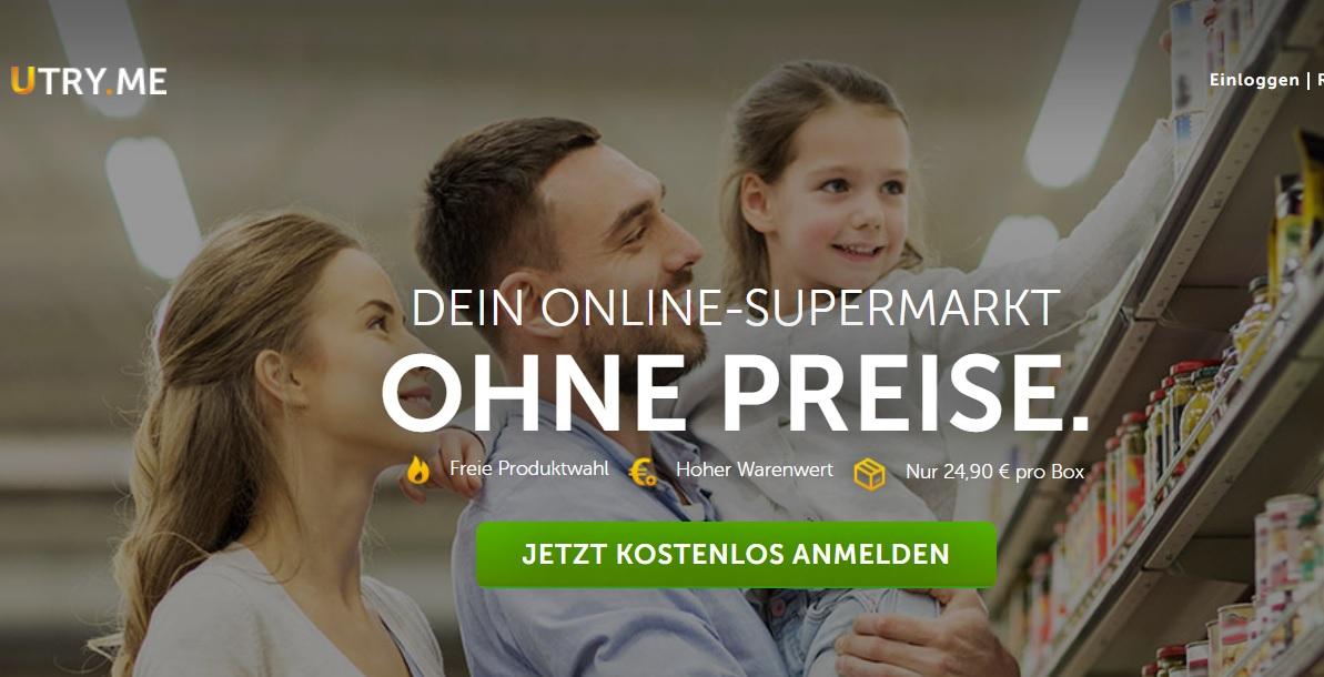 """""""Utry.me"""" ist der Online-Supermarkt ohne Preise"""